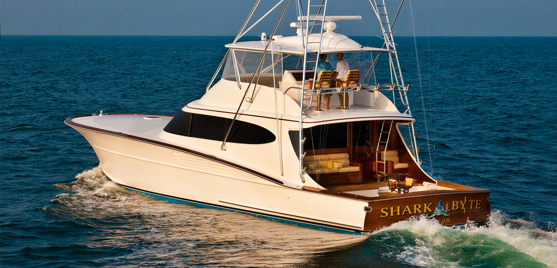 Bayliss 73 39 shark byte custom sport fishing boat for Sport fishing boat